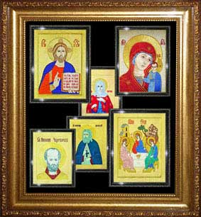 Вышивка иконы и храмы