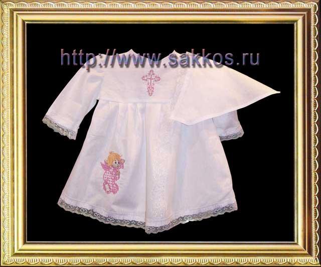 платье рубахи в русском стиле для девочки.